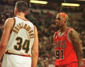 Il libero in cui Rodman ha mandato fuori di testa Brickowski prendendolo in giro