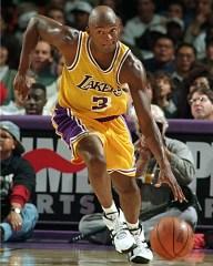Sedale Threatt, in una versione dei Lakers non scintillante.
